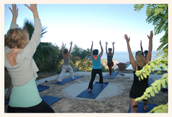 women at bloom yoga retreat